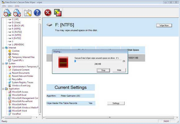 Data Shredder Software screen shot