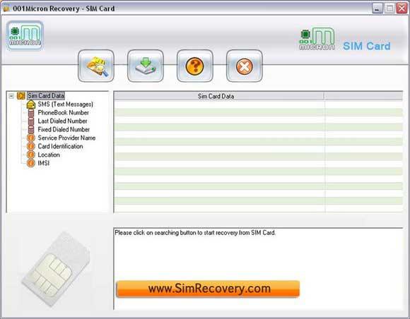 Kartu SIM perangkat lunak pemulihan pulih file dihapus, kontak, dll gambar